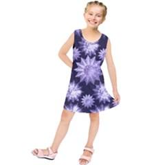 Stars Patterns Christmas Background Seamless Kids  Tunic Dress
