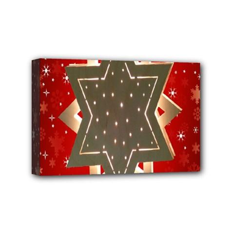 Star Wood Star Illuminated Mini Canvas 6  x 4