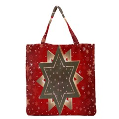 Star Wood Star Illuminated Grocery Tote Bag