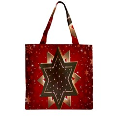 Star Wood Star Illuminated Zipper Grocery Tote Bag