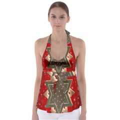 Star Wood Star Illuminated Babydoll Tankini Top