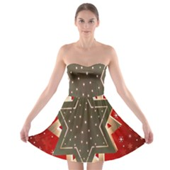 Star Wood Star Illuminated Strapless Bra Top Dress