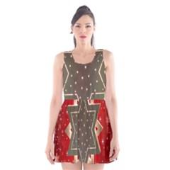 Star Wood Star Illuminated Scoop Neck Skater Dress