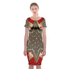 Star Wood Star Illuminated Classic Short Sleeve Midi Dress
