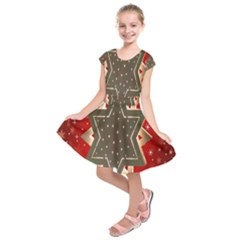 Star Wood Star Illuminated Kids  Short Sleeve Dress