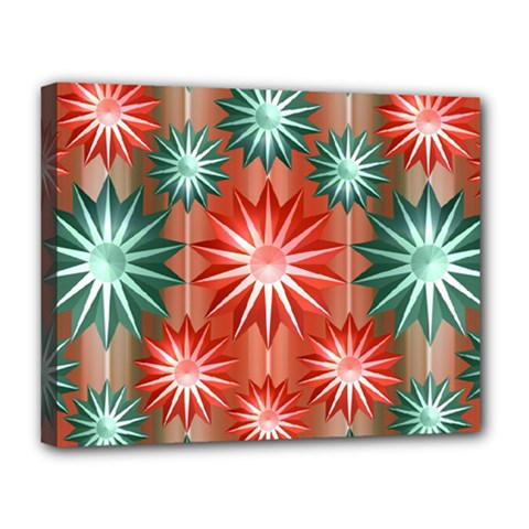 Stars Patterns Christmas Background Seamless Canvas 14  X 11