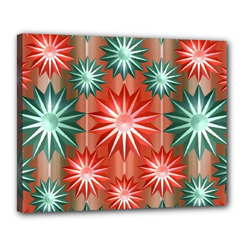 Stars Patterns Christmas Background Seamless Canvas 20  x 16