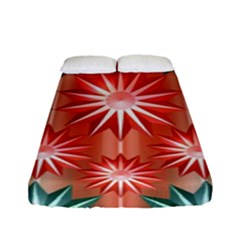 Stars Patterns Christmas Background Seamless Fitted Sheet (full/ Double Size)