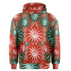 Stars Patterns Christmas Background Seamless Men s Pullover Hoodie
