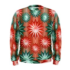 Stars Patterns Christmas Background Seamless Men s Sweatshirt
