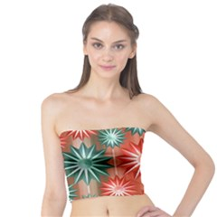 Stars Patterns Christmas Background Seamless Tube Top