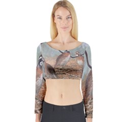 Bob White Quail Long Sleeve Crop Top