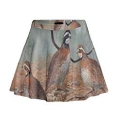 Bob White Quail Mini Flare Skirt