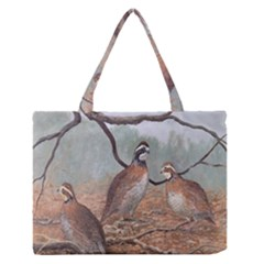 Bob White Quail Medium Zipper Tote Bag