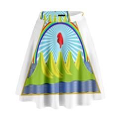 Coat Of Arms Of Nicaragua High Waist Skirt