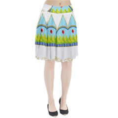 Coat Of Arms Of Nicaragua Pleated Skirt