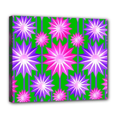 Stars Patterns Christmas Background Seamless Deluxe Canvas 24  x 20