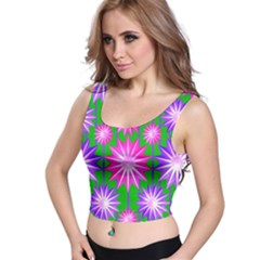 Stars Patterns Christmas Background Seamless Crop Top