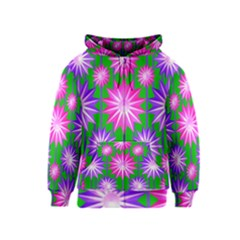 Stars Patterns Christmas Background Seamless Kids  Zipper Hoodie