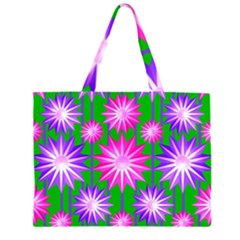 Stars Patterns Christmas Background Seamless Large Tote Bag