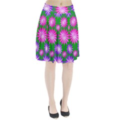 Stars Patterns Christmas Background Seamless Pleated Skirt