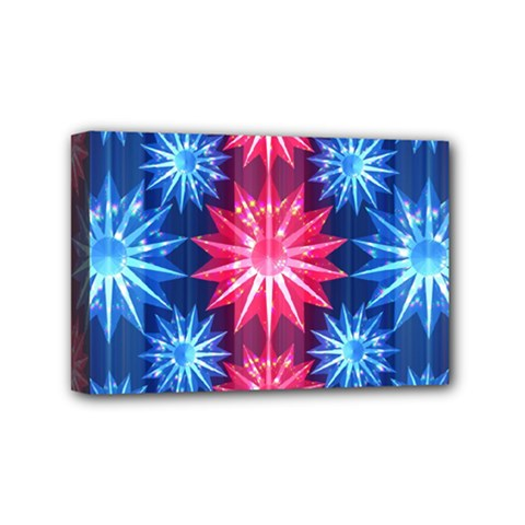 Stars Patterns Christmas Background Seamless Mini Canvas 6  x 4