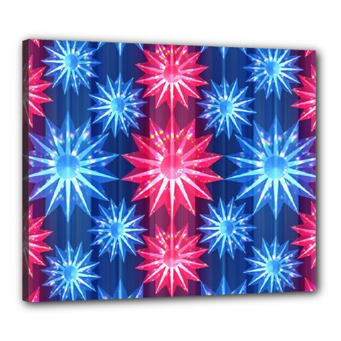 Stars Patterns Christmas Background Seamless Canvas 24  x 20