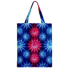 Stars Patterns Christmas Background Seamless Zipper Classic Tote Bag
