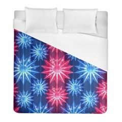 Stars Patterns Christmas Background Seamless Duvet Cover (full/ Double Size)