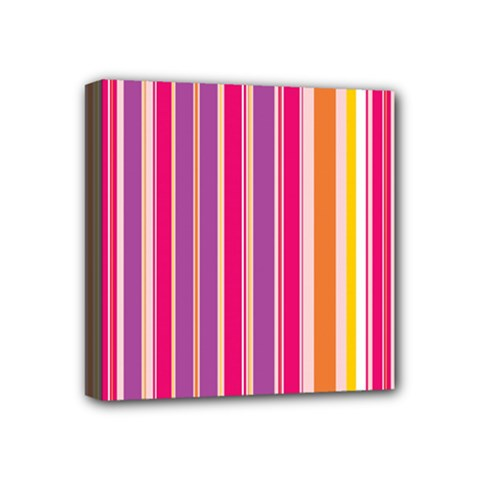 Stripes Colorful Background Pattern Mini Canvas 4  x 4