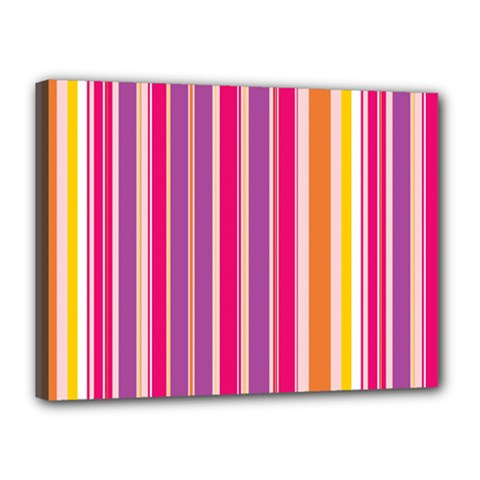 Stripes Colorful Background Pattern Canvas 16  x 12