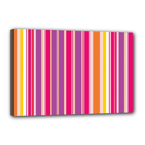 Stripes Colorful Background Pattern Canvas 18  x 12