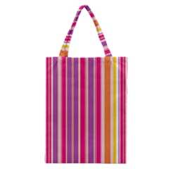 Stripes Colorful Background Pattern Classic Tote Bag