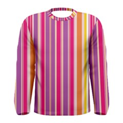 Stripes Colorful Background Pattern Men s Long Sleeve Tee