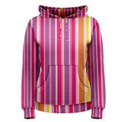 Stripes Colorful Background Pattern Women s Pullover Hoodie