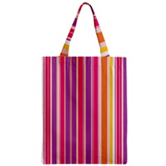Stripes Colorful Background Pattern Zipper Classic Tote Bag