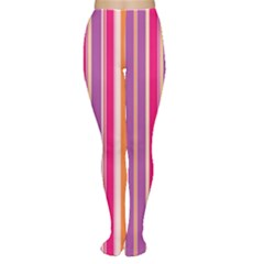 Stripes Colorful Background Pattern Women s Tights