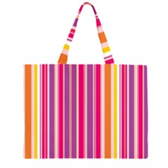 Stripes Colorful Background Pattern Large Tote Bag