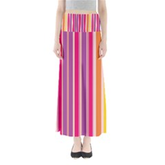 Stripes Colorful Background Pattern Maxi Skirts