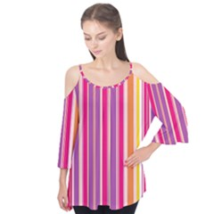Stripes Colorful Background Pattern Flutter Tees