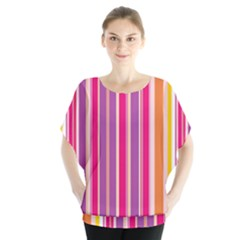 Stripes Colorful Background Pattern Blouse