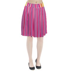 Stripes Colorful Background Pattern Pleated Skirt