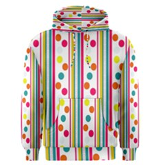 Stripes Polka Dots Pattern Men s Pullover Hoodie