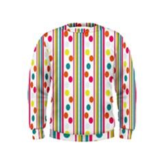 Stripes Polka Dots Pattern Kids  Sweatshirt