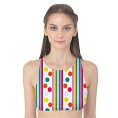 Stripes Polka Dots Pattern Tank Bikini Top
