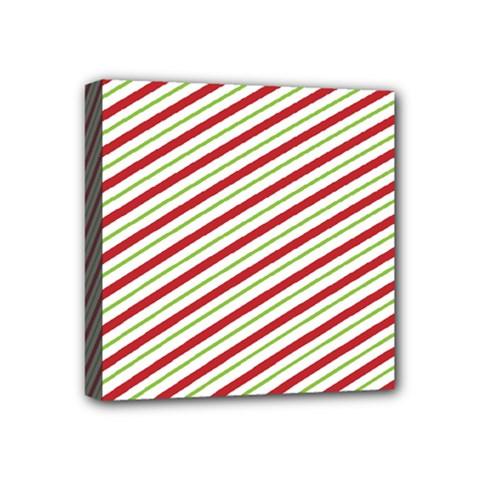 Stripes Striped Design Pattern Mini Canvas 4  x 4