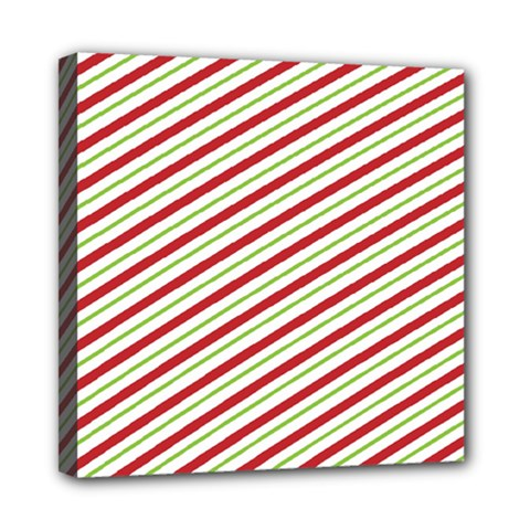 Stripes Striped Design Pattern Mini Canvas 8  X 8