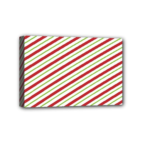 Stripes Striped Design Pattern Mini Canvas 6  x 4