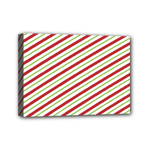 Stripes Striped Design Pattern Mini Canvas 7  x 5