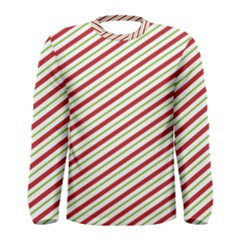 Stripes Striped Design Pattern Men s Long Sleeve Tee
